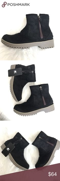 🆕 SOREL 'Meadow' Suede Waterproof Ankle Boots Waterproof oiled Suede leather upper, side zip for easy on/off. New, never worn. Snow/Rain/Outdoors boot Sorel Shoes Winter & Rain Boots