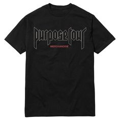 Justin Bieber Men's Purpose Tour T-Shirt - Black Xxl