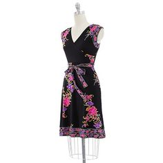 Apt. 9® Floral Faux-Wrap Dress, but SO much pretty in purple, pink and orange!!  (I think it is only in stores)
