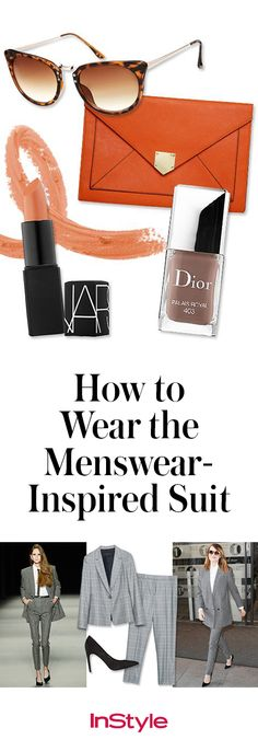 The menswear trend has become completely engrained in the way women dress. The full suit can prove a bit difficult to master, but it can be done. Click to see exactly how.