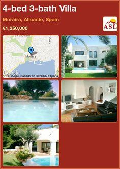 4-bed 3-bath Villa in Moraira, Alicante, Spain ►€1,250,000 #PropertyForSaleInSpain