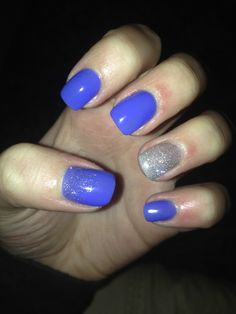 🔵 #blue #shimmer #nails #nailsart