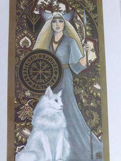 Print of Freya by ArtsbyAdrienne on Etsy