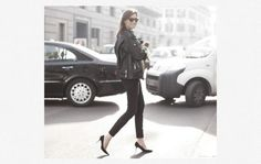 Black Skinny Jeans + Grey Tee + Chloé Tuxedo Jacket. Altfit?     Cropped Leather Pants + Black Cashmere Sweater + Pointed Toe Heels. Altfit?