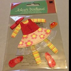Jolee's Boutique Dimensional Stickers Little Girl Clothes NIP