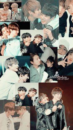 Credits to whoever did this 💜 Bts Blackpink, Jungkook Cute, Bts Taehyung, Bts Bangtan Boy, Taekook, Bts Aesthetic Wallpaper For Phone, Bts Wallpaper, Bts Ships, Boy Band