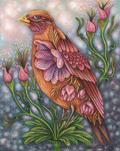 Hope Eternal Bird ART PRINT Mandy SAILE 8 x 10 by BijousWhimsy