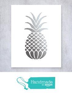 Pineapple Silver Foil Art Print Small Poster Tropical Chic Metallic Modern Wall Art Silver Decor 5 inches x 7 inches B18 from Digibuddha https://www.amazon.com/dp/B01LW6ITUW/ref=hnd_sw_r_pi_awdo_s68CybCFR23E3 #handmadeatamazon