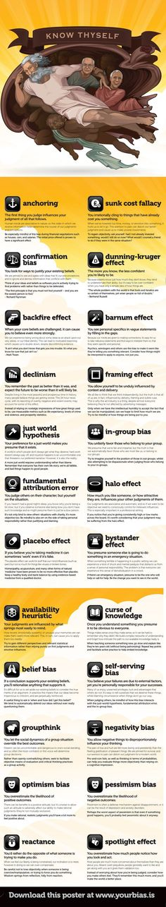 23 best Cognitive Bias images on Pinterest | Cognitive bias, Psych ...