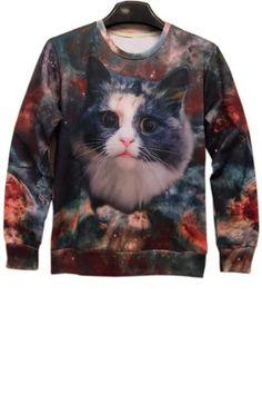 AdoreWe - oasap Relaxed Cat Sweatshirt - AdoreWe.com