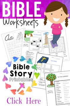 Free Bible Worksheets, printables, games and activities from Bible Story Printables http://www.biblestoryprintables.com/BibleWorksheets