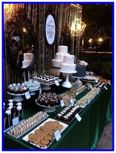 50 Awesome Wedding Dessert Bar Ideas to Rock - Page 2 of 2 - WeddingIncludes Rustic Wedding Desserts, Sweet Table Wedding, Dessert Bar Wedding, Candy Bar Wedding, Wedding Sweets, Dessert Bars, Wedding Reception, Reception Layout, Dessert Recipes