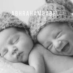 Twin boy names- Abraham and Abel