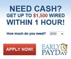 Early Payday Cash Advance - Get the money you need fast.