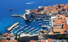 Hämta bilder Dubrovnik, sommar, resort, vita båtar, båtar, resor, Kroatien