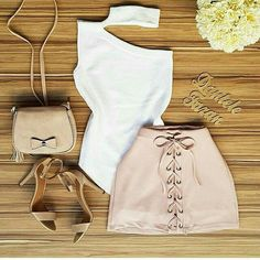 Pencil Skirt Casual, Casual Skirt Outfits, Cute Summer Outfits, Cool Outfits, Fashion Outfits, Womens Fashion, Forever 21 Outfits, Night Out Outfit, I Love Fashion