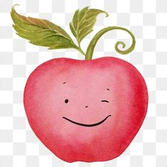 Apple Watercolor Apple Cartoon Apple Apple Fruit Clipart Hand Drawn Apple Fruit Png And Vector With Transparent Background For Free Download Fruit Cartoon Watercolor Fruit Fruit Vector