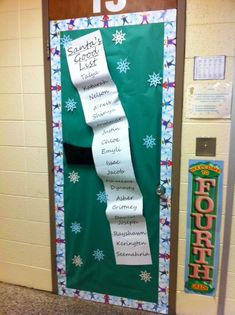 Naughty Or Nice – Santa's List Classroom Door Decoration ..... Easy Christmas Idea