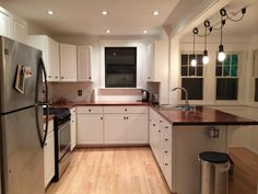 My brother's recent kitchen remodel! 1,000,000 times better than the original, and such a joy to cook in. There's nothing like a well-lit, spacious kitchen.