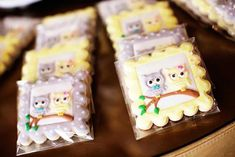 Cookies at owl themed baby shower #owl #cookies #babyshower #party
