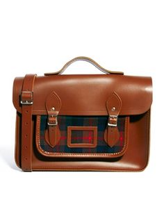 "The Cambridge Satchel Company 15"" Designer Tartan Leather Satchel"