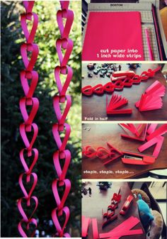 Een hartjes-slinger maken. Diy And Crafts, Crafts For Kids, Arts And Crafts, Paper Crafts, Craft Wedding, Diy Wedding, Pink Yellow Weddings, Dance Themes, Photo Booth Backdrop