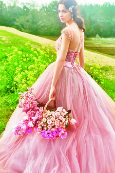 FOUR SIS & CO. Pink Prom Dresses, Pink Dress, Nice Dresses, Formal Dresses, Wedding Dresses, Sweetheart Wedding Dress, Ethereal, Ball Gowns, Tulle