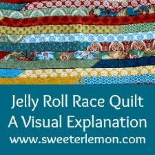 Jelly Roll Race Quilt Top – Complete : Sweeter Lemon