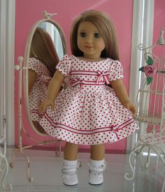 18 inch American Girl Doll Dressy Dress by MenaBella on Etsy, $21.95