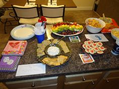 Food for Broadway themed party