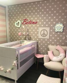 Como decorar e aproveitar cada cantinho de um quarto pequeno Baby Bedroom, Bedroom Wall, Kids Bedroom, Teen Room Decor, Baby Decor, Princess Room Decor, Baby Room Design, Kids Corner, Fashion Room