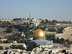 Jerusalem ~ The Mt. of Olives overlooks the Temple Mount from the east.