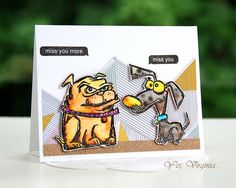 Miss You http://virginialusblog.blogspot.ca/2016/07/tim-holtz-crazy-dogs-collection.html