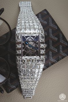 The $18,000,000 Jacob & Co 'Billionaire' Tourbillon with 260cts of baguette diamonds.
