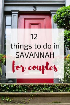 Romantic vacation to Savannah on the horizon? Here are 12 of the best things to do in Savannah for couples having a getaway, from a local! Romantic Vacations, Romantic Getaways, Romantic Travel, Romantic Destinations, Romantic Things, Vacation Destinations, Vacation Spots, Vacation Trips, Honeymoon Trip