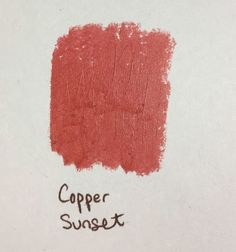 Copper Sunset Lipstick: Coppery rich mid-terracotta Pearl Creme finish A on TA Classic fan Lip Gloss Colors, Lipstick Colors, Matte Red, Copper Hair, Sunset Colors, Warm Autumn, Fall Makeup, Fragrance, Lily