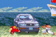 Tentando tirar a bola de baixo do carro... XD uahauhaua