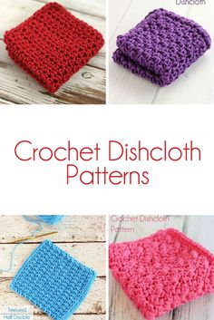 Free crochet dishcloth patterns! There are patterns for beginners as well as seasoned crocheters.