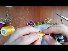 ÜÇ BOYUTLU İNCİLİ SÜMBÜLLER YAPTIM - YouTube Chain Headpiece, Creative Embroidery, Peacock Design, Three Dimensional, Tatting, Iphone Wallpaper, Diy And Crafts, Polymer Clay, Drop Earrings