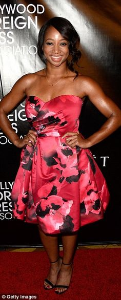 Red hot: Monique Coleman looked pretty in floral while Saoirse Ronan showed her contempora...
