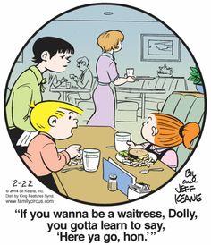 Tuesday's Top Ten: National Waiter/Waitress Day! : Blog | Comics Kingdom - Comic Strips, Editorial Cartoons, Sunday Funnies, Jokes