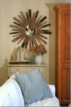 Starburst mirror made out of an old wine barrell!