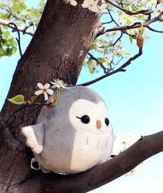 PDF sewing pattern Owl plush toy easy kawaii por TeacupLion