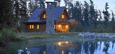 Lindal Cedar Homes small home plan,the Chalet Banff.