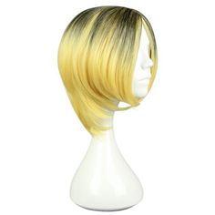 Haikyuu Gradient Flaxen Wigs Hair Cosplay Party #jewelry, #women, #men, #hats, #watches, #belts, #fashion
