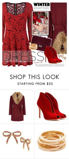 """""""Party On: Long Sleeve Dresses"""" by vanjazivadinovic ❤ liked on Polyvore featuring New Look, Gianvito Rossi, Betsey Johnson, Kenneth Jay Lane, sammydress, longsleeve and polyvoreeditorial"""