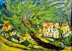 Chaim Soutine - Arbre couche, 1924 at Musée de l'Orangerie Paris France | Flickr - Photo Sharing!