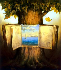 Vladimir Kush. The magic has never been in the books. It was in the trees all along. That or Kush read the end of Prince Caspian.
