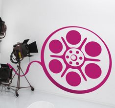 Room #Stickers - Silhouette of a #cinema #film tape roll. Ideal for home cinema rooms, #movie lovers or aspiring film directors.  #TV & movie #decals great for fans.