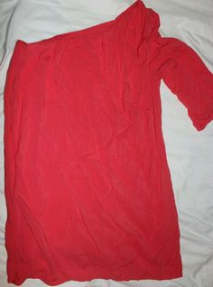 *Audrey 3+1* side sleeve, pink coral, casual, size small  #Audrey #KnitTop #Casual